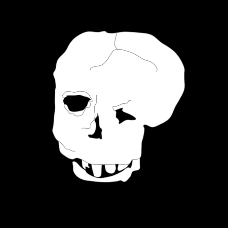 Deformed skull Illustration