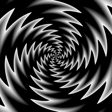 Black white optic illusion Stock Photo