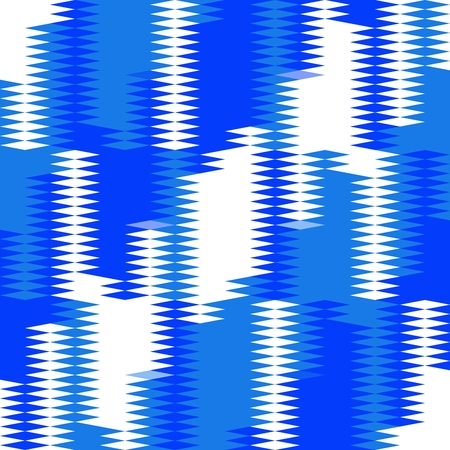 Blue white art style art geometric pattern Stock Photo - 96966427