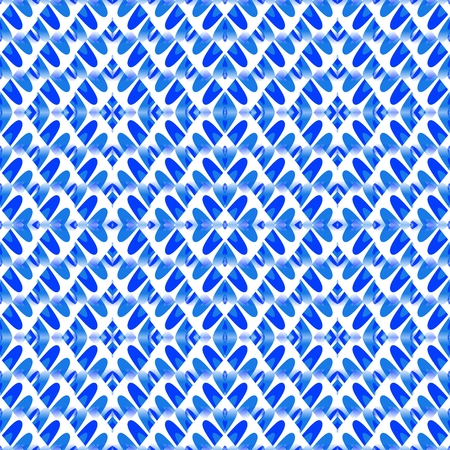 Blue white kaleidoscopic decorative design