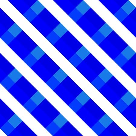 Blue abstract geometric pattern with stripes and dice