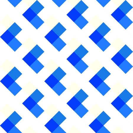 White blue checkered geometric pattern Stock Photo