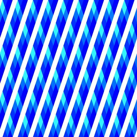 Blue white rhombic decor with oblique stripes