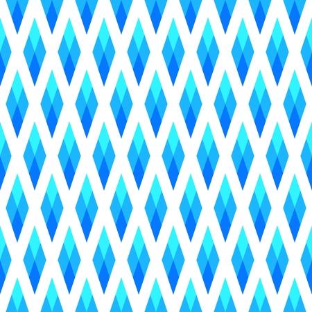Sweet blue white geometric diamond pattern