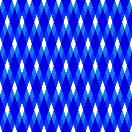 Blue white geometric seamless pattern Stock Photo