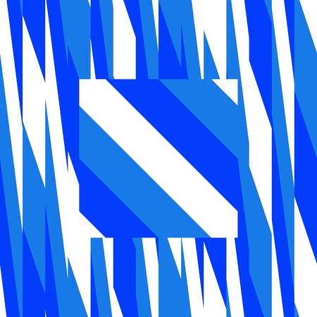 Blue white geometric pattern Stock Photo
