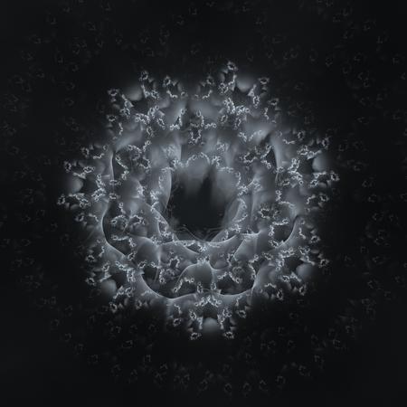 Silver abstract background - abstract digital illustration. 3d rendered - digital fractal illustration