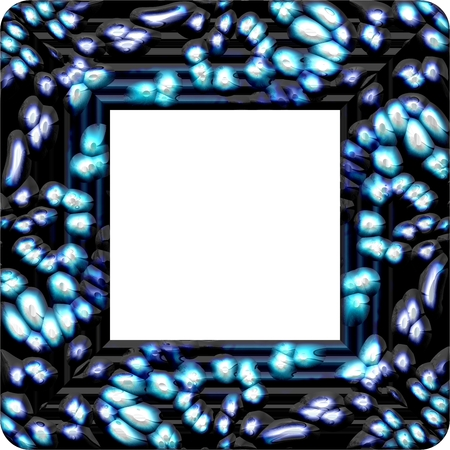 Blue square frame with copyspace Stock Photo
