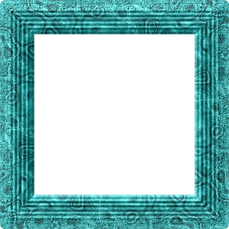Square border in turquoise green and gray colors Stock Photo