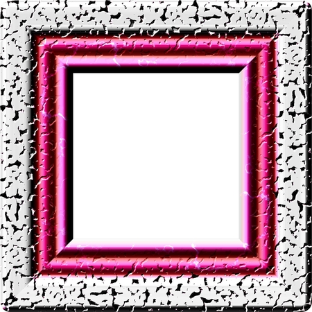 Pink square frame with copy space - digitally rendered fractal pattern Stock Photo