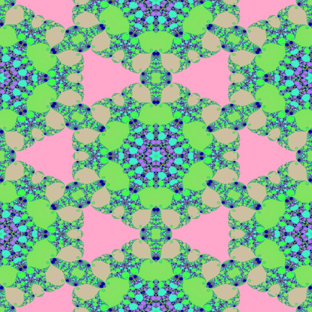 Big abstract flower in seamless kaleidoscopic pattern