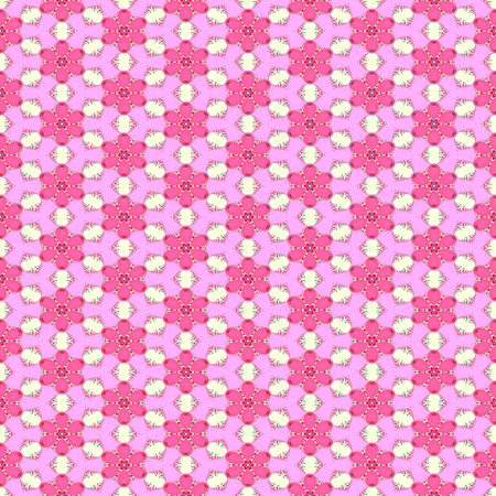 Pink white floral seamless pattern Stock Photo