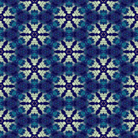 Blue white mosaic Stock Photo