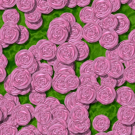 Floral background with roses - digitally rendered pattern