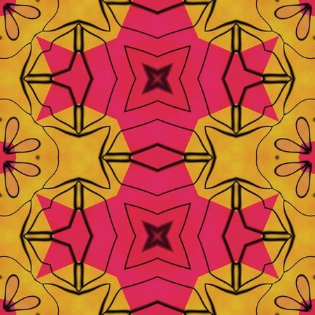 Seamless orange red black carpeting