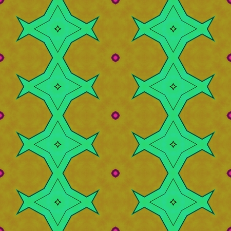Retro traditional green orange red black seamless wallpaper