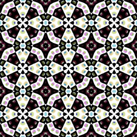 Seamless fractal fantasy decor