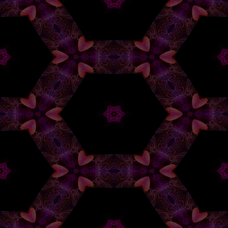 Abstract seamless fractal ornamental tile