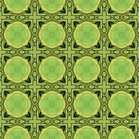 Green decorative tile able pattern in secession style