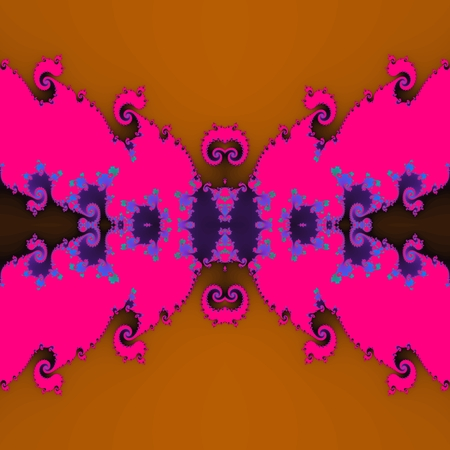 Butterfly - abstract purple pink brown fractal design