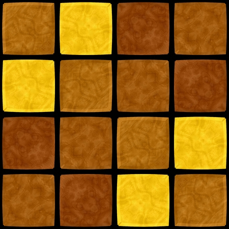 Abstract brown yellow mosaic tile