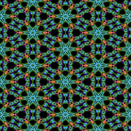 Abstract ornamental floral fractal nobody islamic seamless decorative pattern
