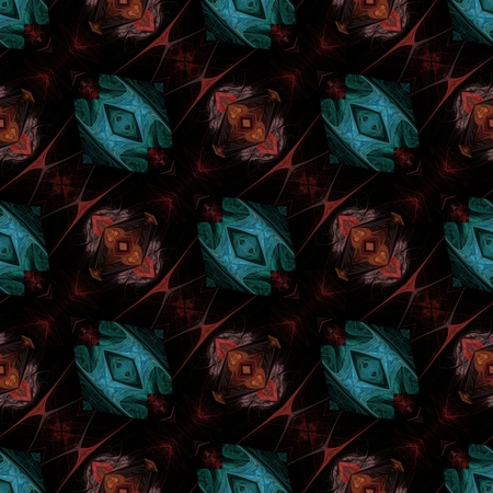 Seamless fractal design - oriental decorative pattern