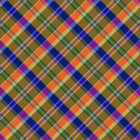 Red yellow blue tartan pattern