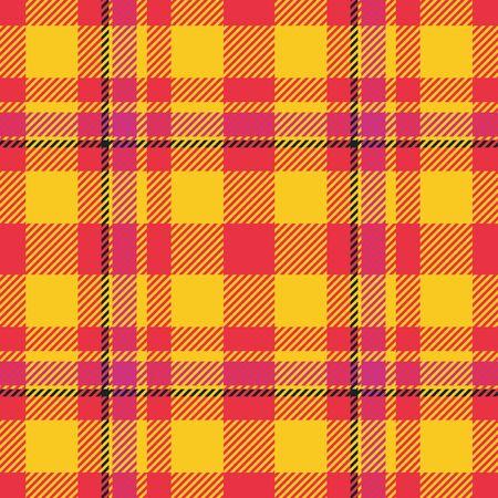 Red yellow black geometric pattern imitating tartan textile Stock Photo