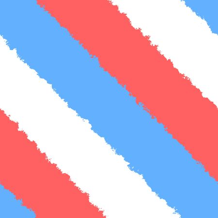 White blue red bright uneven diagonally stripes in street art style Stockfoto
