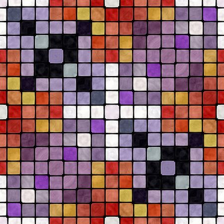 Abstract seamless colorful mosaic ornamental pattern