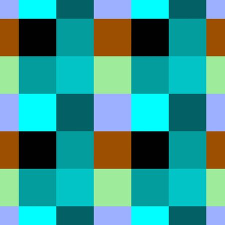 Checkered blue green black brown seamless retro pattern low poly background 스톡 콘텐츠