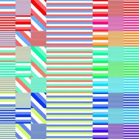 Playful striped colorful beach pattern Stock Photo