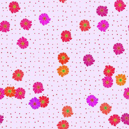 Decorative ornamental seamless floral pattern