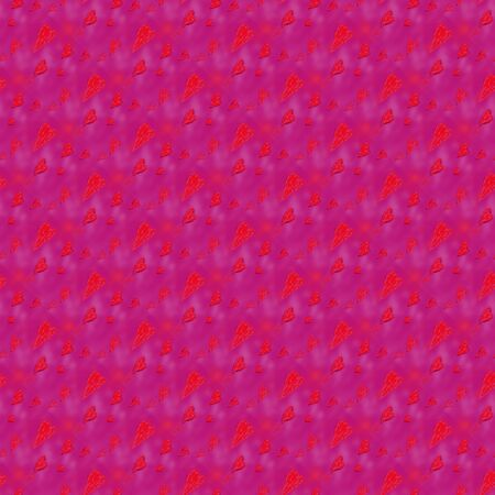 Red pink blurred seamless pattern with hearts