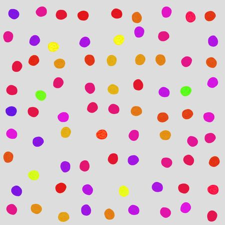 Colorful spotted seamless abstract background with painted irregular dots Stock Photo