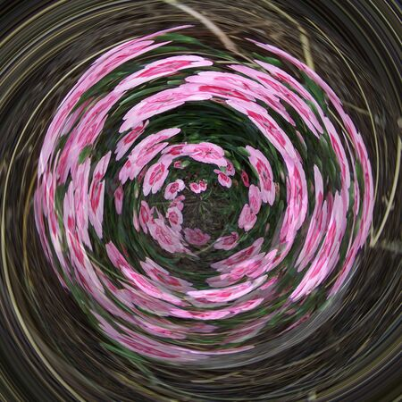 Abstract spinning pink brown green background Stock Photo