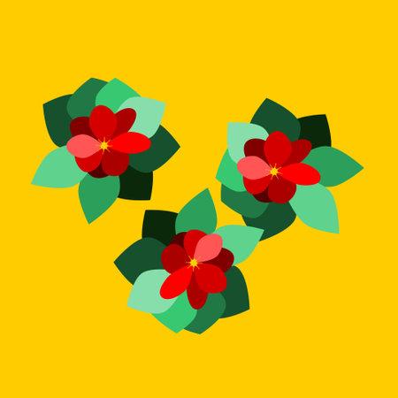 Decorative floral tile in vivid colors Illustration