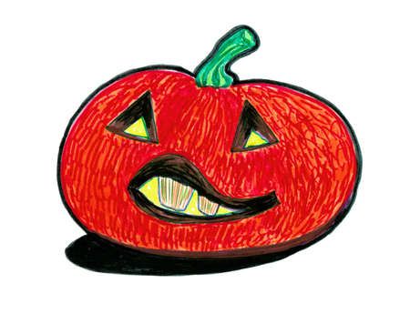 Stylized pumpkin with grin