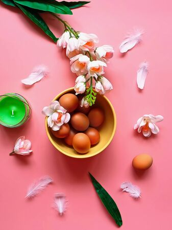 Eggs Protein Vitamin Pink White Apple Flowers Green