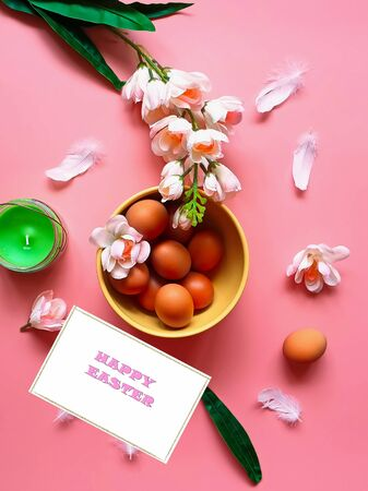 Eggs Easter Protein Vitamin C Rose Green Apple Flowers