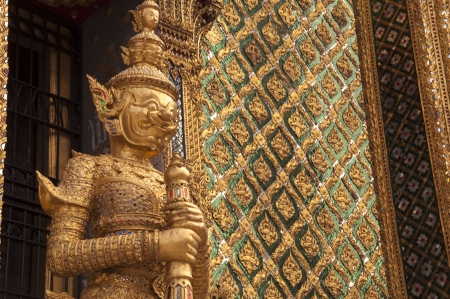 Giant Buddha in Grand Palace, Bangkok, Thailand photo