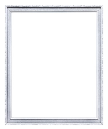 white picture frame  isolated on white photo
