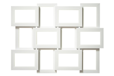multi picture frame  isolated on white Stock Photo - 14436602