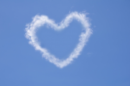 Heart of clouds symbol of love Stock Photo - 14436626