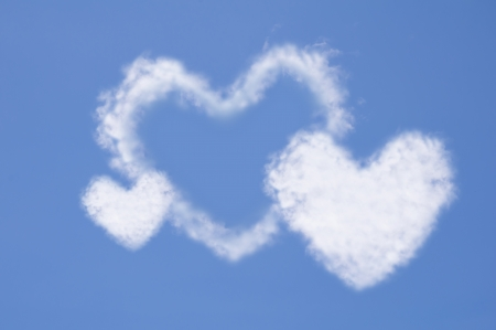 Heart of clouds symbol of love photo