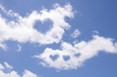 Heart of clouds symbol of love Stock Photo - 14436637