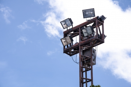 Lighting tower of stadium, Thauland  photo