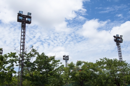 Lighting tower of stadium, Thauland Stock Photo - 14507671