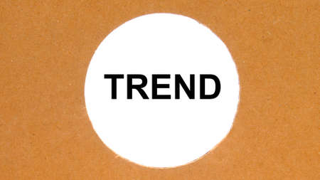 hand man try to complete the Trend word on wooden cube, Trend concept